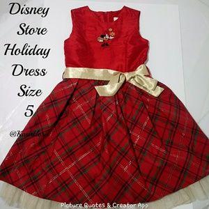 Disney Store Minnie Mouse Holiday Dress Size 5 EUC